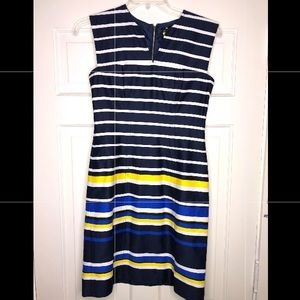 Tommy Hilfiger Navy Striped Dress Size 6